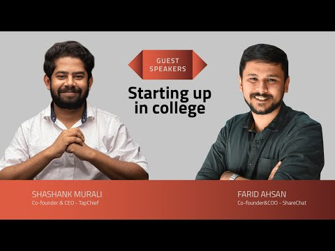 Shashank and Farid on starting up in college – SEED TO SCALE INSIGHTS #54
